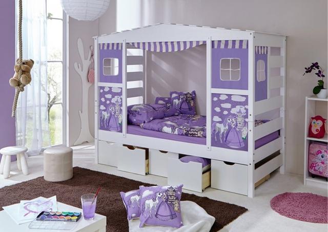 Кровать домик из массива